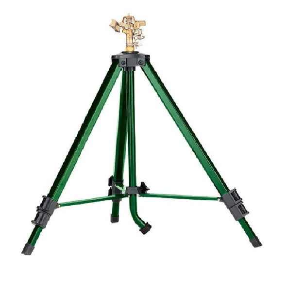 Orbit 58308D Brass Impact Sprinkler on Tripod Sprinkler Base