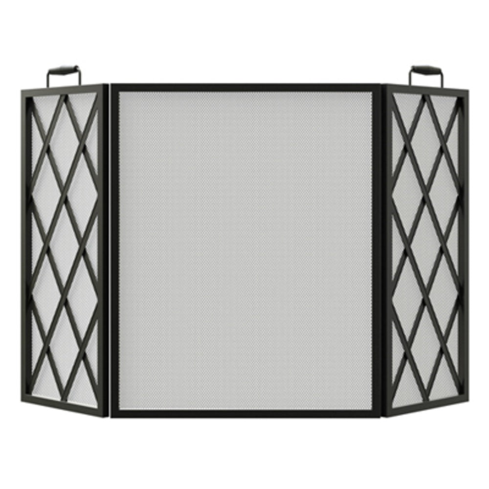 Panacea 15185 3 Panel Diamond Fireplace Screen, 33.5 inch x 48 inch