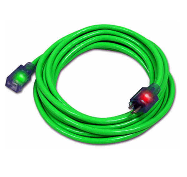 Pro Glo D17334015 Extension Cord, Green