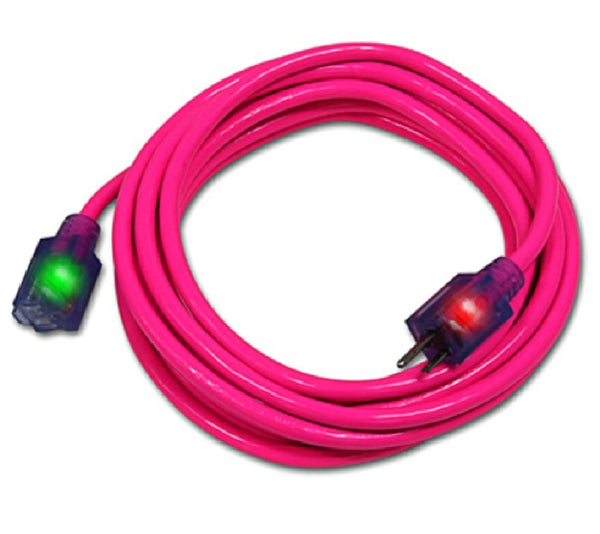 Pro Glo D17335025 Lighted Extension Cord with CGM, Pink