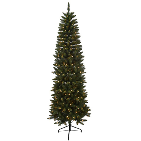 Puleo 277-JSGP75C4 Pre-Lit Japser Slim Fir Artificial Tree, 7.5 Feet