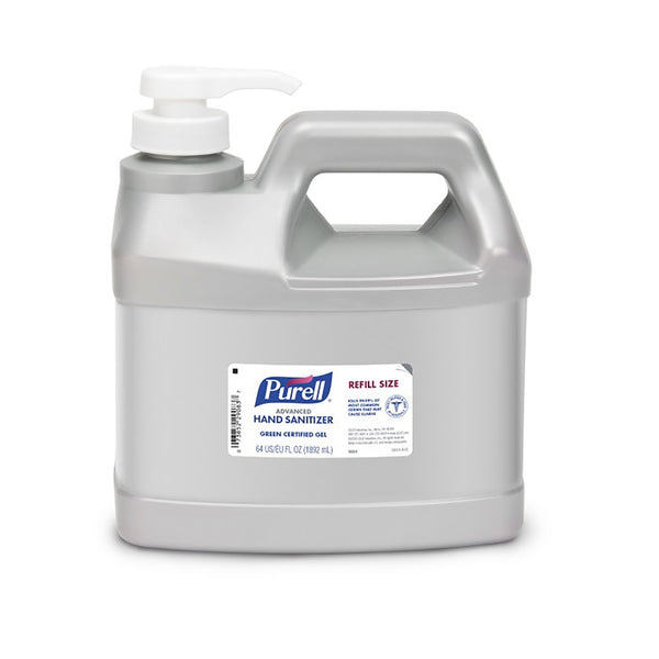 Purell 9684-04 Gel Hand Sanitizer Refill, 64 Oz