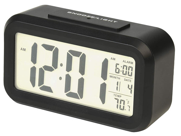 RCA RCD11A Digital Alarm Clock, Black