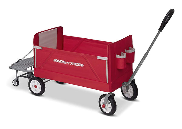 Radio Flyer 3962A 3-In-1 Tailgater Wagon, Red