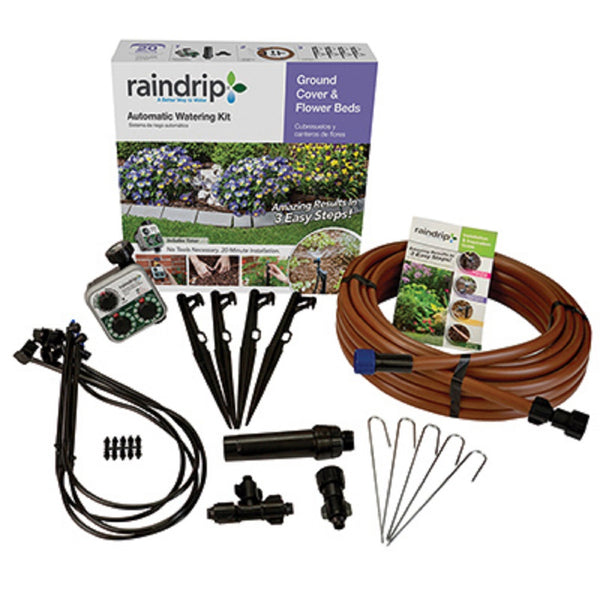 Raindrip SDGCBHP Ground Cover & Flowerbed Kit With Timer