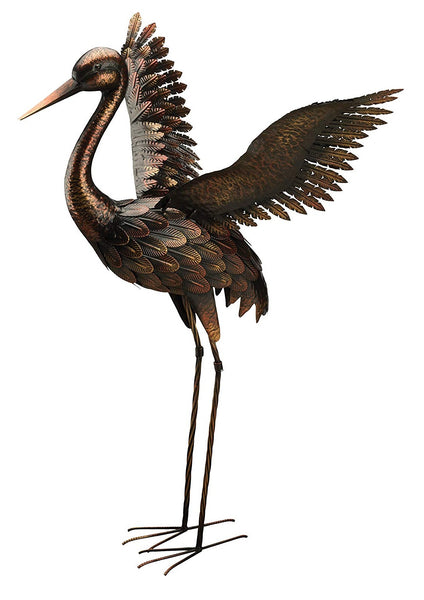 Regal Art & Gift 11517 Crane Bird Statue, Bronze