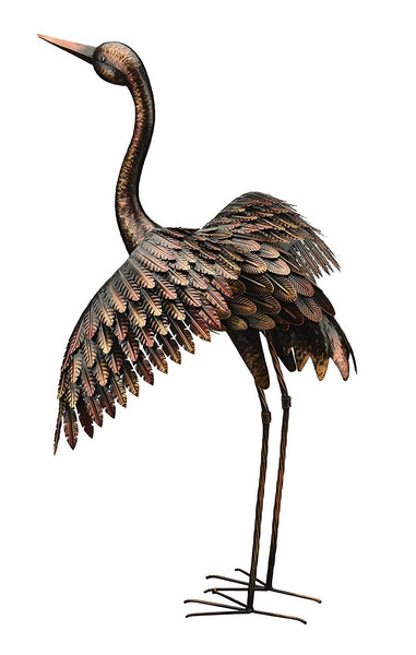 Regal Art & Gift 11516 Crane Bird Statue, Bronze