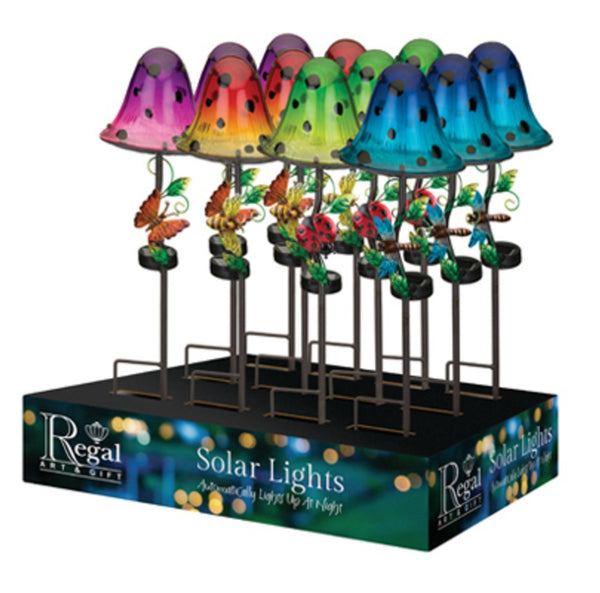 Regal Art & Gift 51376 Dotty Solar Mushroom Stake