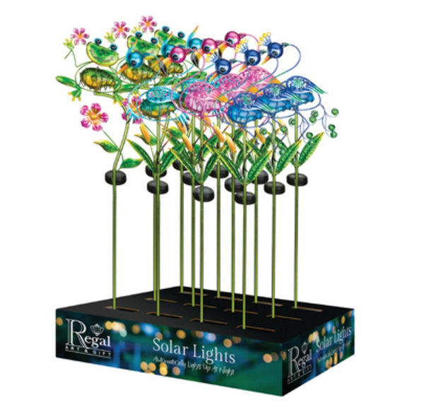 Regal Art & Gift 51382 Garden Ellipse Flamingo Solar Stake