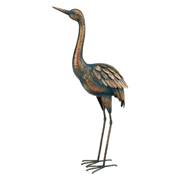 Regal Art & Gift 11292 Patina Crane Bird Statue, 26.5""