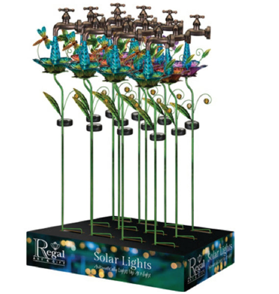 Regal Art & Gift 51385 Waterdrop Solar Stake with Lights