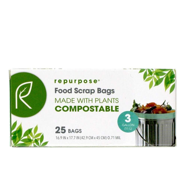 Repurpose RPR.TRS.325.MP20 Compostable Tall Kitchen Bags, 3 Gallon