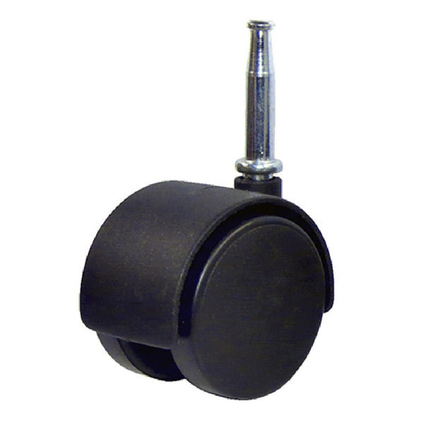 "Richelieu America F24432TV Dual Wheel Caster With Wood Stem, 2"", Black"