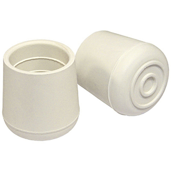 Richelieu F32096TV TruGuard Rubber Non-Skid Leg Tip, Off White, 1-1/2 Inch