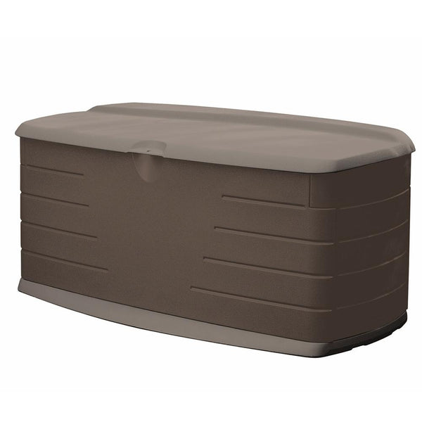 Rubbermaid 2047054 Deck Box With Seat, 90 Gallon Capacity