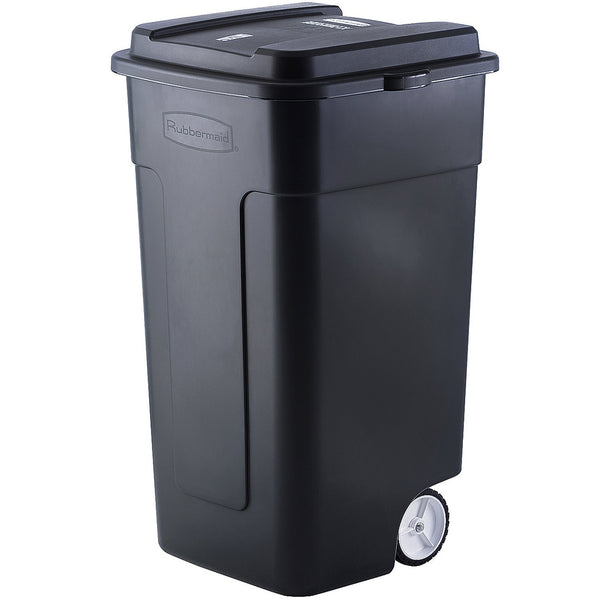 Rubbermaid FG285100BLA Roughneck Heavy Duty Wheeled Trash Can, Black