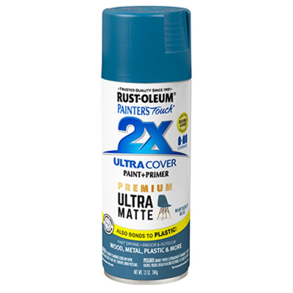 Rust-Oleum 331188 Painter's Touch 2X Premium Ultra Matte Spray Paint, 12 Oz