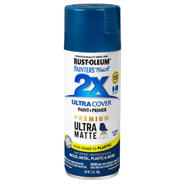 Rust-Oleum 331183 Painter's Touch 2X Premium Ultra Matte Spray Paint, 12 Oz