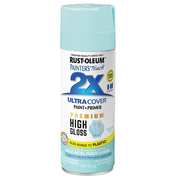 Rust-Oleum 331178 Painter's Touch 2X Ultra Cover Premium Paint + Primer Spray, 12 Oz