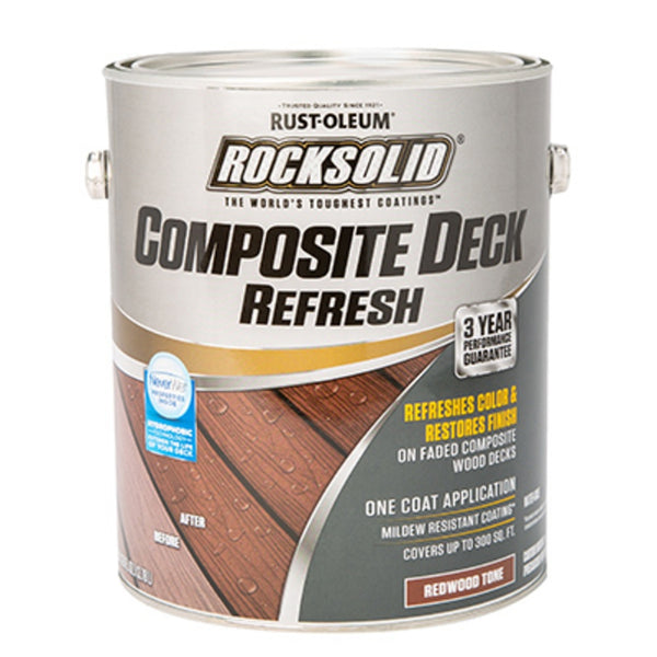 Rust-Oleum 350059 RockSolid Composite Deck Refresh, 1 Gallon