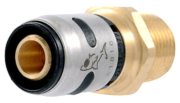 "SharkBite K120A Evopex Push To Connect Male Connector, 1/2"" Dia"
