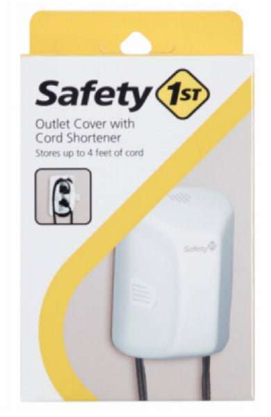 Safety 1St 48308 Outlet Cover with Cord Shortener, White