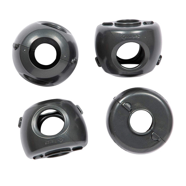 Safety 1st HS325 Parent Grip Door Knob Covers, Charcoal, 4 Pack