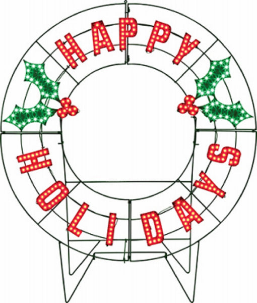 Santa's Best 7403019U Holiday Message Wreath, 40 Inch