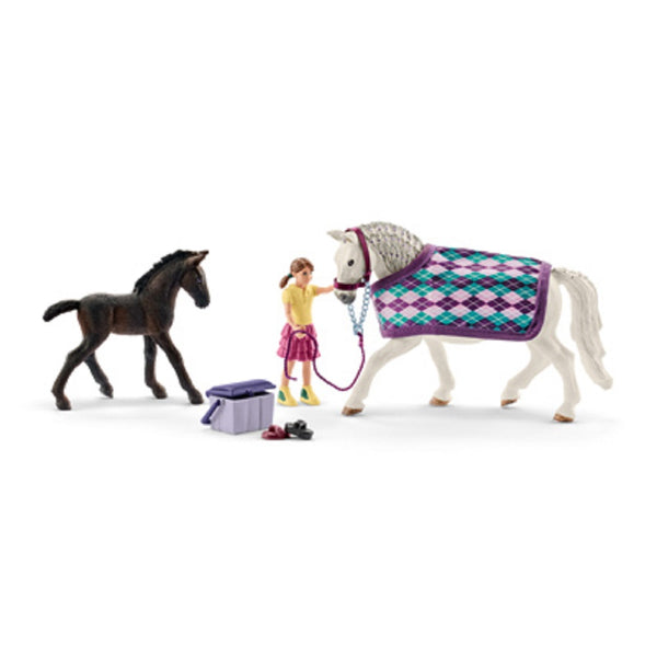 Schleich 72130 Lipizzaner Care Toy, Vinyl Plastic, Assorted Color