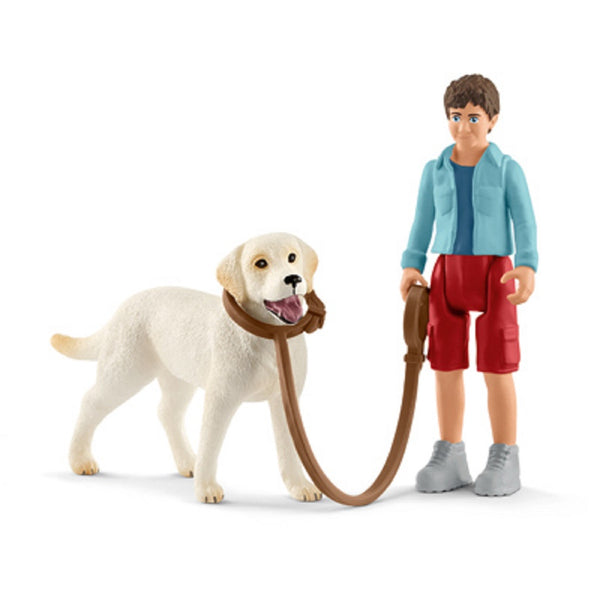 Schleich 42478 Walking With Labrador Toy, Assorted Color