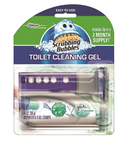 Scrubbling Bubbles 71381 Toilet Cleaning Gel, Rainshower, 1.34 Ounce