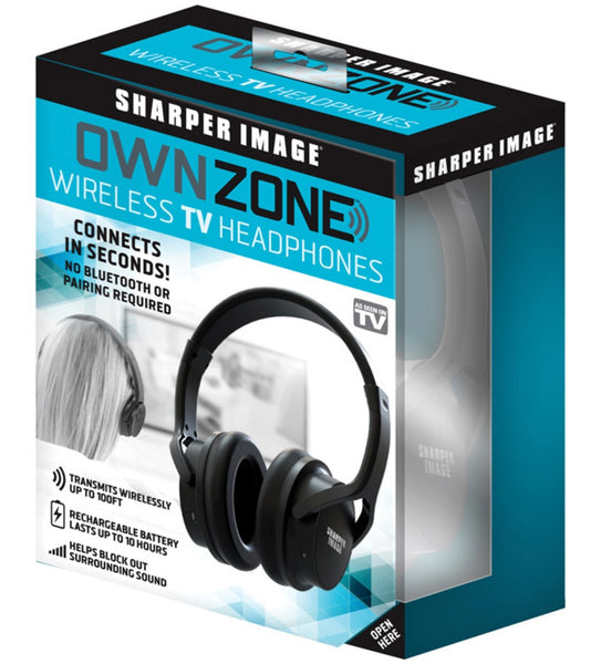 Sharper Image WN011112 Own Zone As Seen On TV Over The Ear TV Headphones, Black