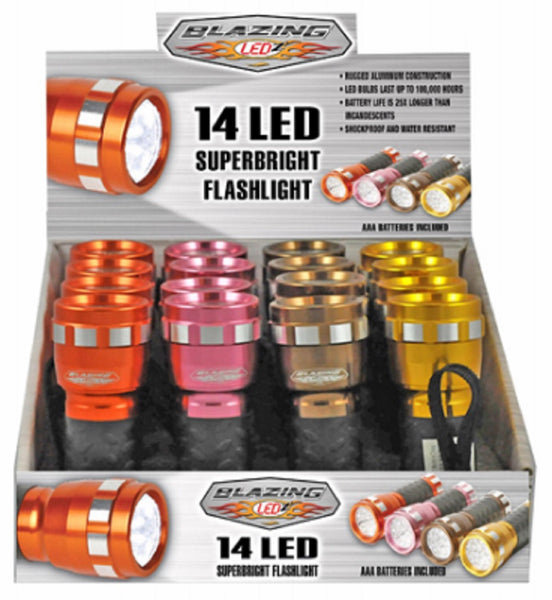Shawshank Ledz 302502 14 LED Cool Color Flashlight