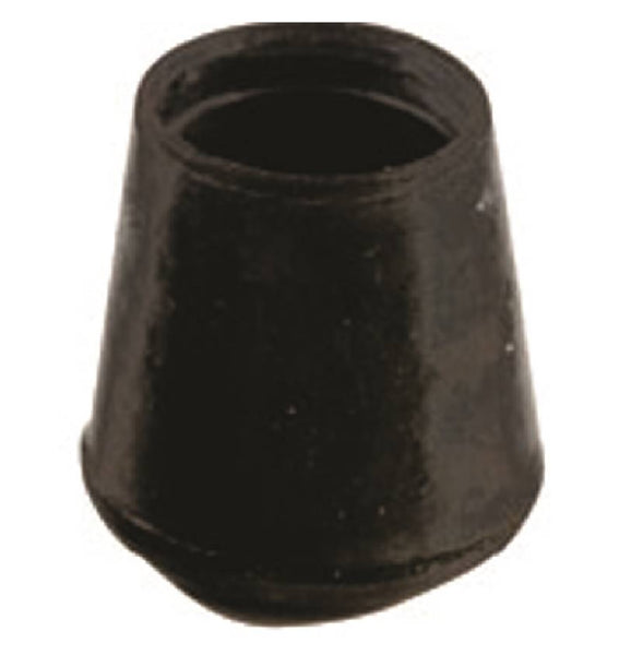 Shepherd Hardware 9758 Furniture Leg Tip, Rubber, Black