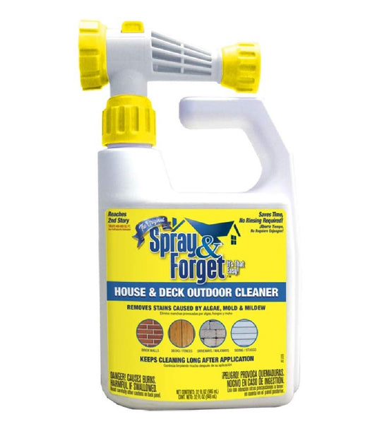 Spray & Forget SFDHEQ06 House & Deck Cleaner, 32 Oz