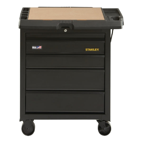 Stanley STST23151BK 5 Drawer Mobile Workbench, 4 -Wheel, 500 lb Weight Capacity