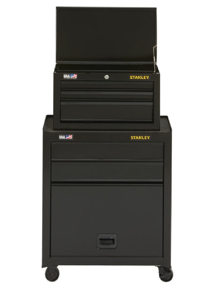Stanley STST22656BK 5-Drawer Tool Chest and Cabinet, 10,227 cu-in Storage, Black