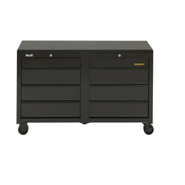 Stanley STST25381BK 100 Series 8-Drawer Mobile Workbench, Black, 50 Lbs