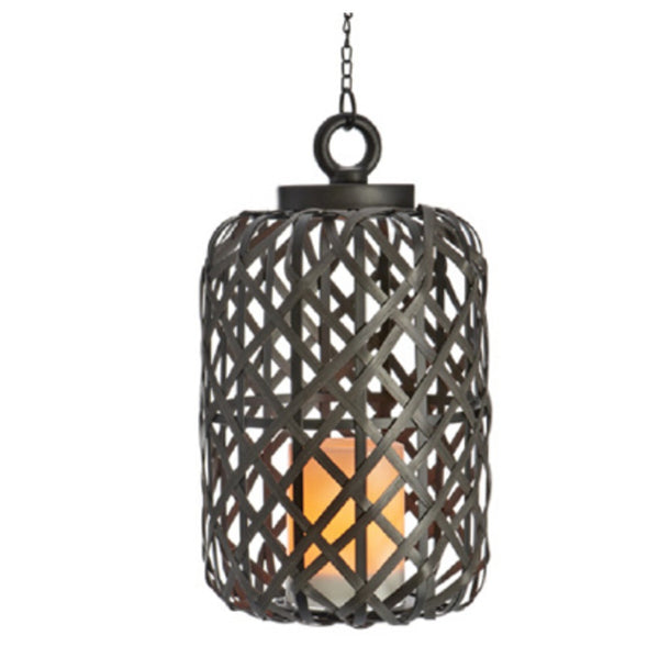Sterno GL42443 Ratton Pendant Cage Light, Brown