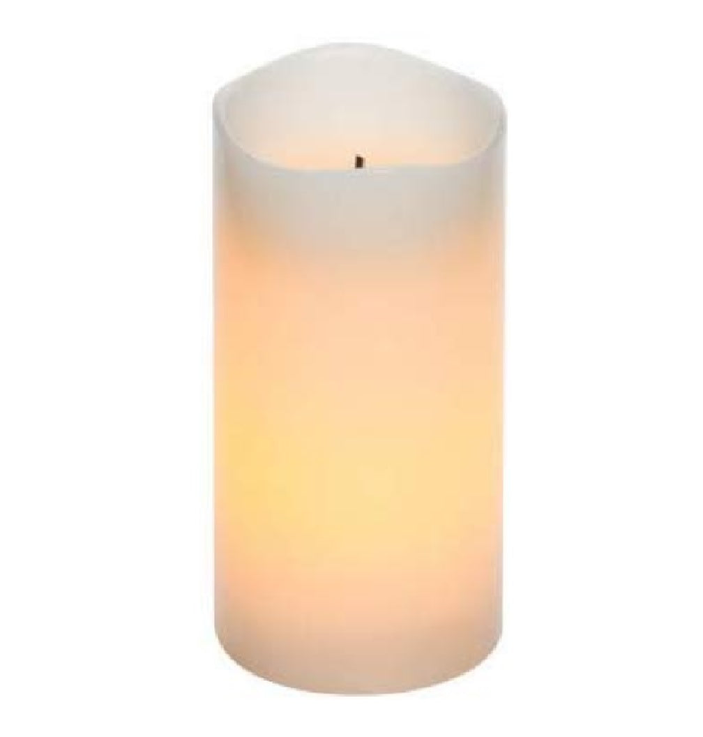 Sterno NST13414CR Flameless Pillar Candle, Cream
