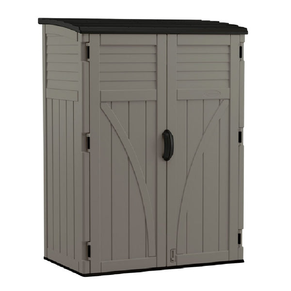 Suncast BMS5700SB Vertical Storage Shed, Grey, 54 cu. ft.