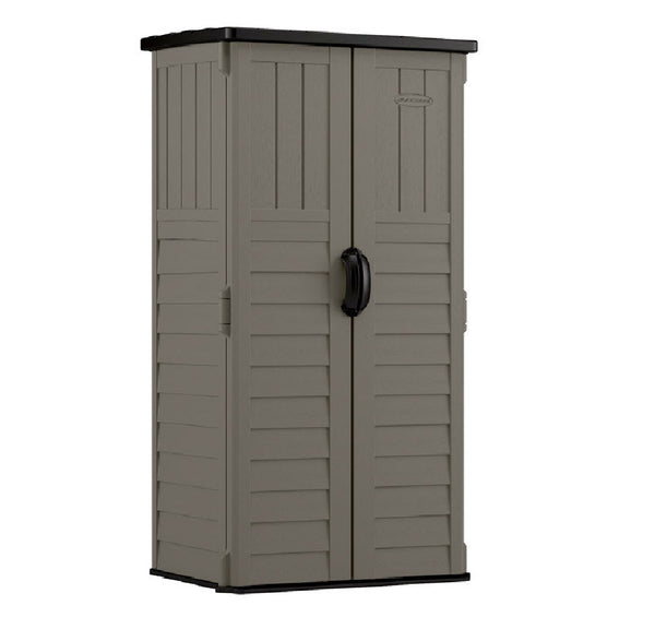 Suncast BMS1250SB Vertical Storage Shed, Grey