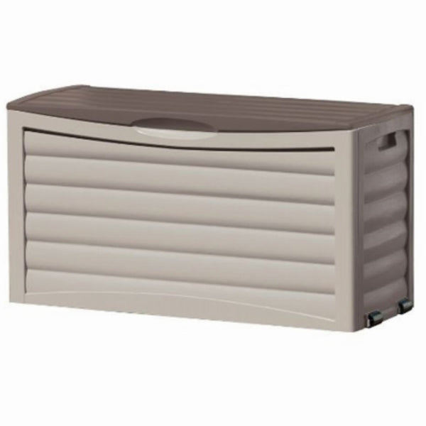 Suncast DB6300 Deck Box With Wheels, 63 Gallon