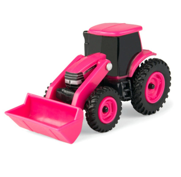 Tomy 46705 1:64 Scale Tractor with Loader, Pink