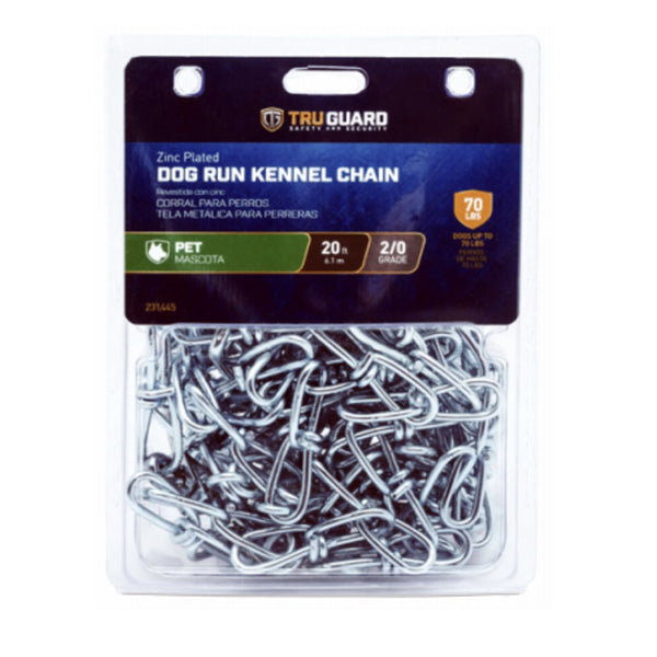 Tru-Guard 3209507TG Dog Run Kennel Chain, Zinc Plated