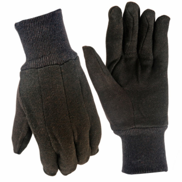 True Grip 9125-26 Men's Cotton Jersey Glove, Small, Brown