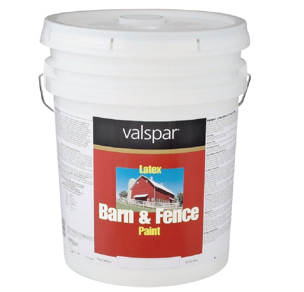 Valspar 3125-70 Barn and Fence Paint, White, 5 Gallon