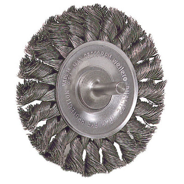 Weiler 17681 Standard Knot Wire Wheel Brush, 3 Inch
