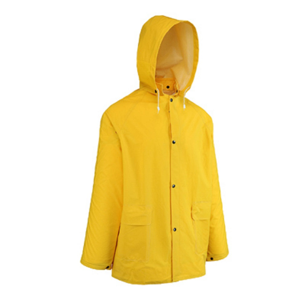 West Chester 44036/2XL Rain Coat With Hood, Yellow, 2 XL, 2 Piece