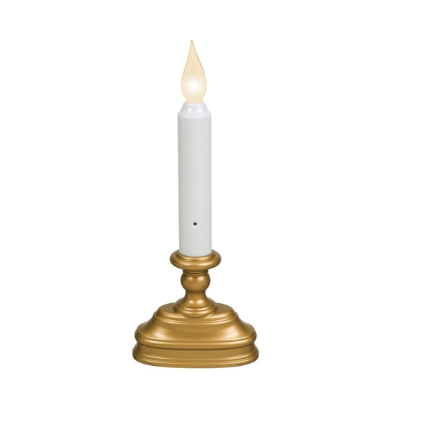 Xodus Innovations FPC1320B Flameless Flickering Christmas Candle, Antique Brass/White
